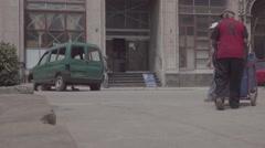Street scene, Old Havana, Cuba Stock Footage