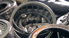 Metal parts of a car Stock Footage