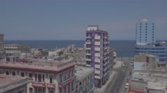 View the traffic on the malacon, Havana, Cuba Stock Footage
