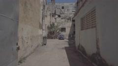 Car in car park, Old Havana, Cuba. Stock Footage