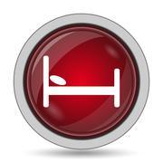 Hotel icon. Internet button on white background.. Stock Illustration