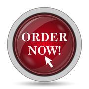 Order now icon. Internet button on white background.. Stock Illustration