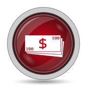 Money icon. Internet button on white background.. - stock illustration