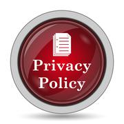 Privacy policy icon. Internet button on white background.. - stock illustration