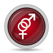 Sex icon. Internet button on white background.. - stock illustration