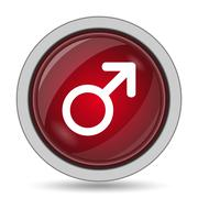 Male sign icon. Internet button on white background.. Stock Illustration