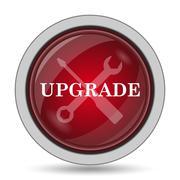Upgrade icon. Internet button on white background.. Stock Illustration