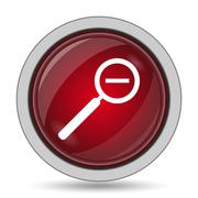 Zoom out icon. Internet button on white background.. Stock Illustration