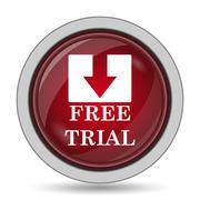 Free trial icon. Internet button on white background.. Stock Illustration