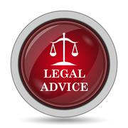 Legal advice icon. Internet button on white background.. Stock Illustration