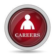 Careers icon. Internet button on white background.. - stock illustration