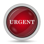 Urgent icon. Internet button on white background.. Stock Illustration