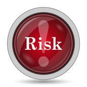 Risk icon. Internet button on white background.. Piirros