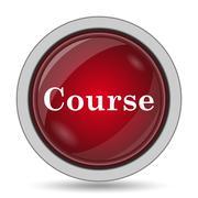 Course icon. Internet button on white background.. - stock illustration
