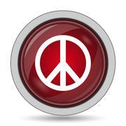 Peace icon. Internet button on white background.. - stock illustration
