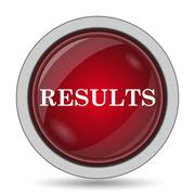 Results icon. Internet button on white background.. Stock Illustration