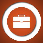 Briefcase icon. Internet button on white background. . - stock illustration
