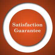 Satisfaction guarantee icon. Internet button on white background. . - stock illustration