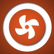Fan icon. Internet button on white background. . Stock Illustration