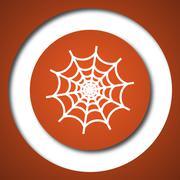 Spider web icon. Internet button on white background. . - stock illustration