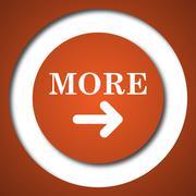 More icon. Internet button on white background. . Stock Illustration