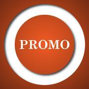 Promo icon. Internet button on white background. . Stock Illustration
