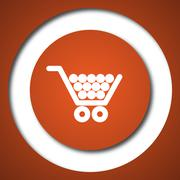 Shopping cart icon. Internet button on white background. . - stock illustration