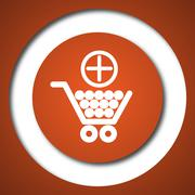 Add to shopping cart icon. Internet button on white background. . Stock Illustration