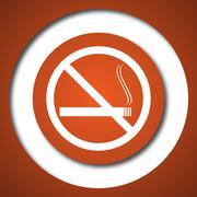 No smoking icon. Internet button on white background. . Stock Illustration
