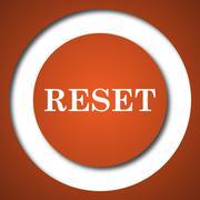 Reset icon. Internet button on white background. . Stock Illustration