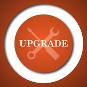 Upgrade icon. Internet button on white background. . Stock Illustration