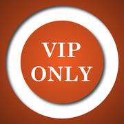 VIP only icon. Internet button on white background. . Stock Illustration
