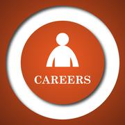 Careers icon. Internet button on white background. . - stock illustration
