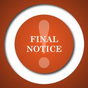 Final notice icon. Internet button on white background. . Stock Illustration