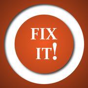 Fix it icon. Internet button on white background. . - stock illustration
