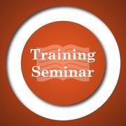 Training seminar icon. Internet button on white background. . - stock illustration