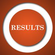 Results icon. Internet button on white background. . Stock Illustration