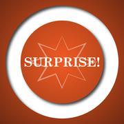 Surprise icon. Internet button on white background. . - stock illustration