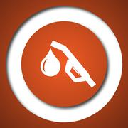 Gasoline pump nozzle icon. Internet button on white background. . - stock illustration