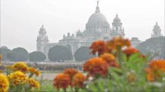 Victoria Memorial, Kolkata , Calcutta, West Bengal, India Stock Footage