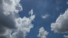 Time lapse stock footage of clouds passing over blue sky, India Stock Footage