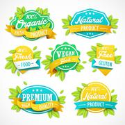 Refreshing label template Stock Illustration