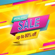 Modern bargain sale poster Stock Illustration