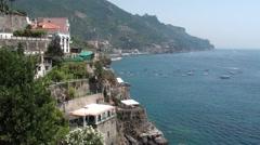 Atrani, Amalfi coast, Campania Italy Stock Footage