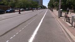 New Toronto bike lanes on bloor street west Stock Footage