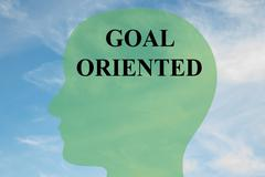 Goal Oriented - mental concept Stock Illustration