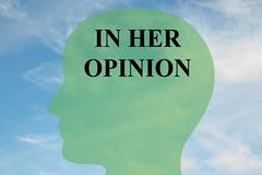 In Her Opinion - mental concept Stock Illustration