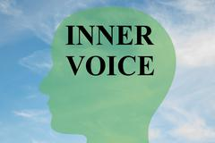 Inner Voice - mental concept Stock Illustration