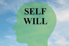 Self Will - mental concept Stock Illustration