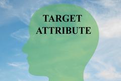 Target Attribute - mental concept Stock Illustration